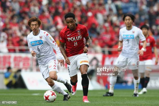 Rafael Silva of Urawa Red Diamonds in action during the JLeague J1 match between Urawa Red Diamonds and Consadole Sapporo at Saitama Stadium on April...