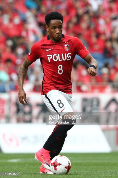 Rafael Silva of Urawa Red Diamonds in action during the JLeague J1 match between Urawa Red Diamonds and Consadole Sapporo at Saitama Stadium on April...