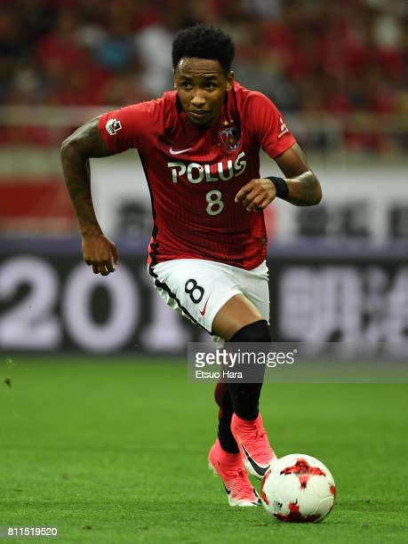 Rafael Silva of Urawa Red Diamonds in action during the JLeague J1 match between Urawa Red Diamonds and Albirex Niigata at Saitama Stadium on July 9...