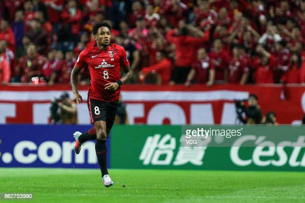 Rafael Silva of Urawa Red Diamonds reacts during the AFC Champions League semi final second leg match between Urawa Red Diamonds and Shanghai SIPG at...
