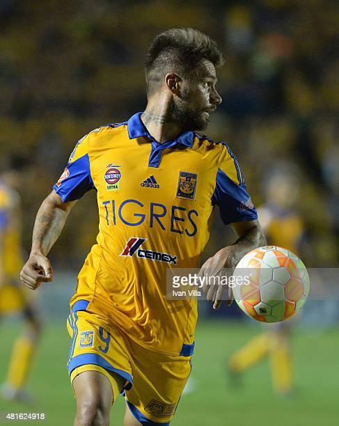 Rafael Sobis of Tigres in action during a semifinal second leg match between Tigres UANL and Internacional as part of Copa Bridgestone Libertadores...