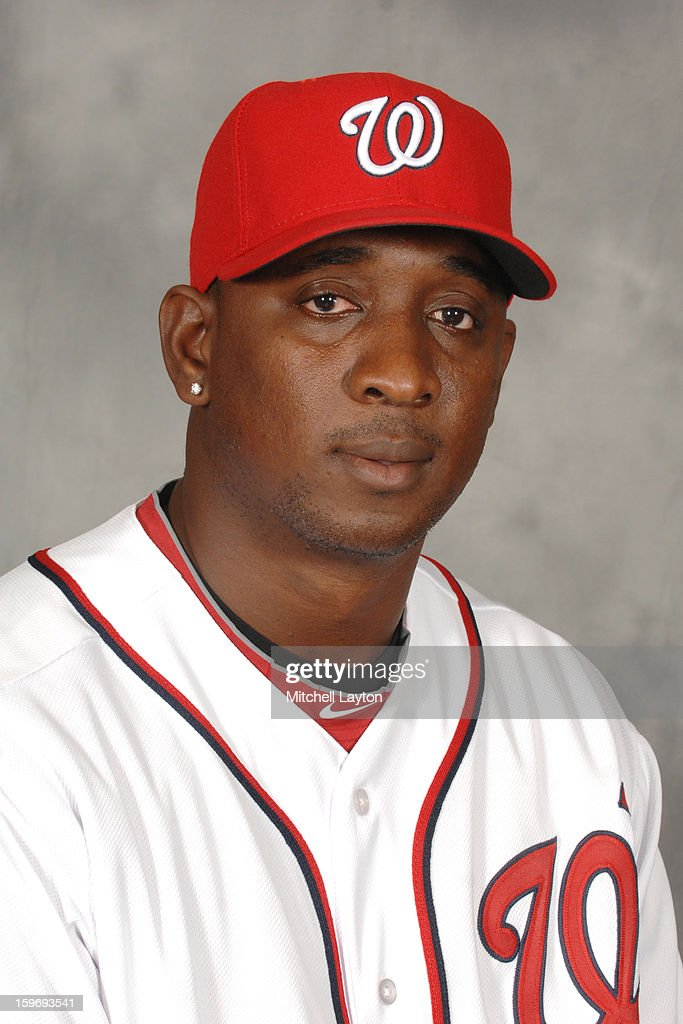<a gi-track='captionPersonalityLinkClicked' href=/galleries/search?phrase=Rafael+Soriano&family=editorial&specificpeople=587892 ng-click='$event.stopPropagation()'>Rafael Soriano</a> of the Washington Nationals poses for a head shot during his introduction press conference on January 17, 2013 at Nationals Park in Washington, DC.
