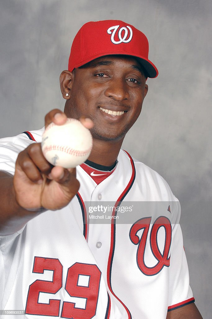 <a gi-track='captionPersonalityLinkClicked' href=/galleries/search?phrase=Rafael+Soriano&family=editorial&specificpeople=587892 ng-click='$event.stopPropagation()'>Rafael Soriano</a> of the Washington Nationals poses for a photo during his introduction press conference on January 17, 2013 at Nationals Park in Washington, DC.