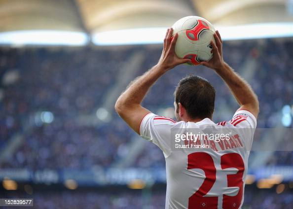 Rafael Van Der Vaart of Hamburg in action during the Bundesliga match between Hamburger SV and Borussia Dortmund at Imtech Arena on September 22 2012...
