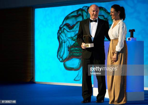 Rafael Yuste and Olga Ruiz attends Arts Sciences and Sports Telva Awards 2017 at Palau de Les Arts Reina Sofia on July 12 2017 in Valencia Spain
