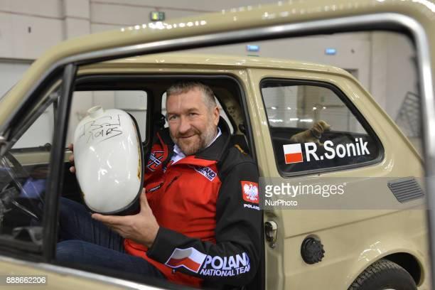Rafal Sonik a Polish quad rally driver promotes Dakar Rally 2018 during a press conference ahead of the Krakow's leg of the FIM SuperEnduro World...