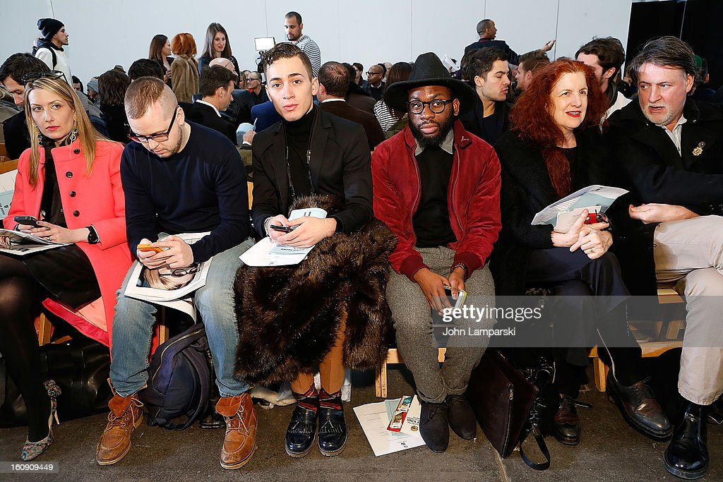 Rafe Masters and McArthur Joseph attend Duckie Brown during Fall 2013 Mercedes-Benz Fashion Week at Industria Superstudio on February 7, 2013 in New York City.