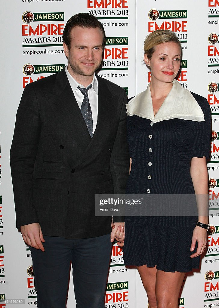 Rafe Spall and Elize du Toit attend the Jameson Empire Film Awards at The Grosvenor House Hotel on March 24, 2013 in London, England.