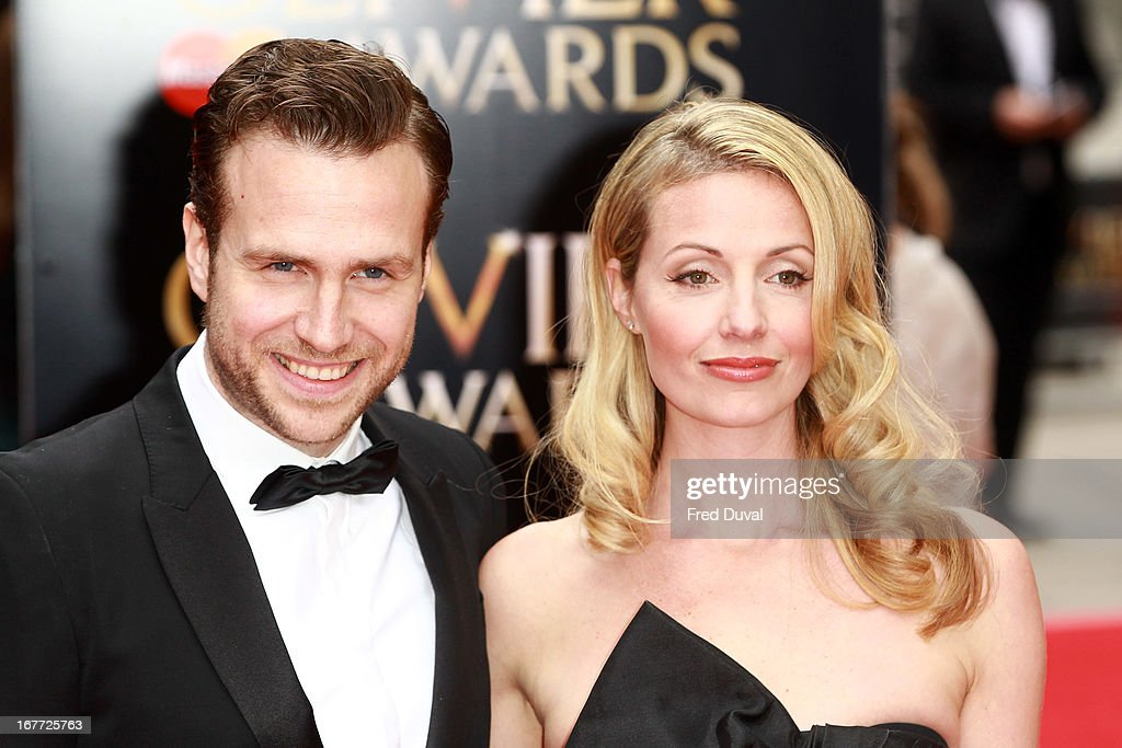 <a gi-track='captionPersonalityLinkClicked' href=/galleries/search?phrase=Rafe+Spall&family=editorial&specificpeople=2153488 ng-click='$event.stopPropagation()'>Rafe Spall</a> and Elize du Toit attend The Laurence Olivier Awards at The Royal Opera House on April 28, 2013 in London, England.