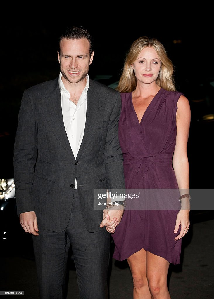 Rafe Spall and <a gi-track='captionPersonalityLinkClicked' href=/galleries/search?phrase=Elize+Du+Toit&family=editorial&specificpeople=210544 ng-click='$event.stopPropagation()'>Elize Du Toit</a> attend the London Evening Standard British Film Awards at the London Film Museum on February 4, 2013 in London, England.