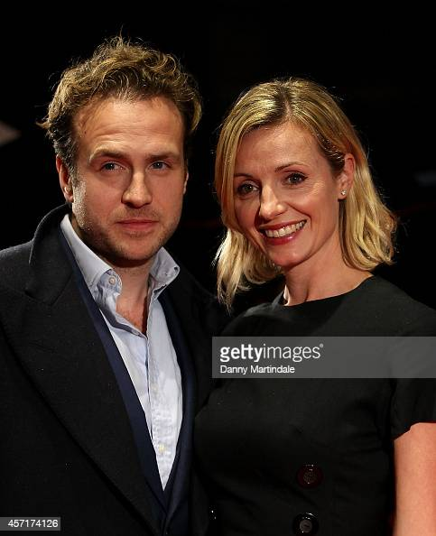 Rafe Spall and Elize du Toit attends a screening of 'X Y' during the 58th BFI London Film Festival at Odeon West End on October 13 2014 in London...