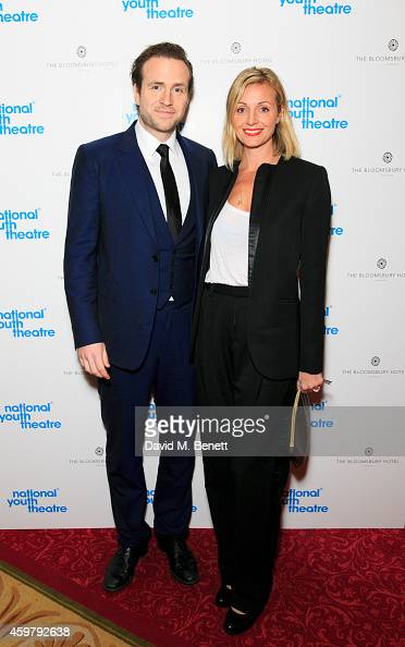 Rafe Spall and Elize du Toit attends the National Youth Theatre Fundraiser 'Strictly Come Downton' at Bloomsbury Hotel on December 1 2014 in London...