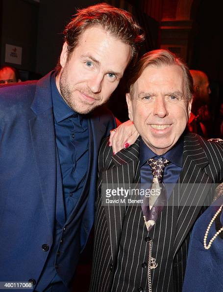 Rafe Spall and Timothy Spall attend an after party celebrating The Moet British Independent Film Awards 2014 at Old Billingsgate Market on December 7...