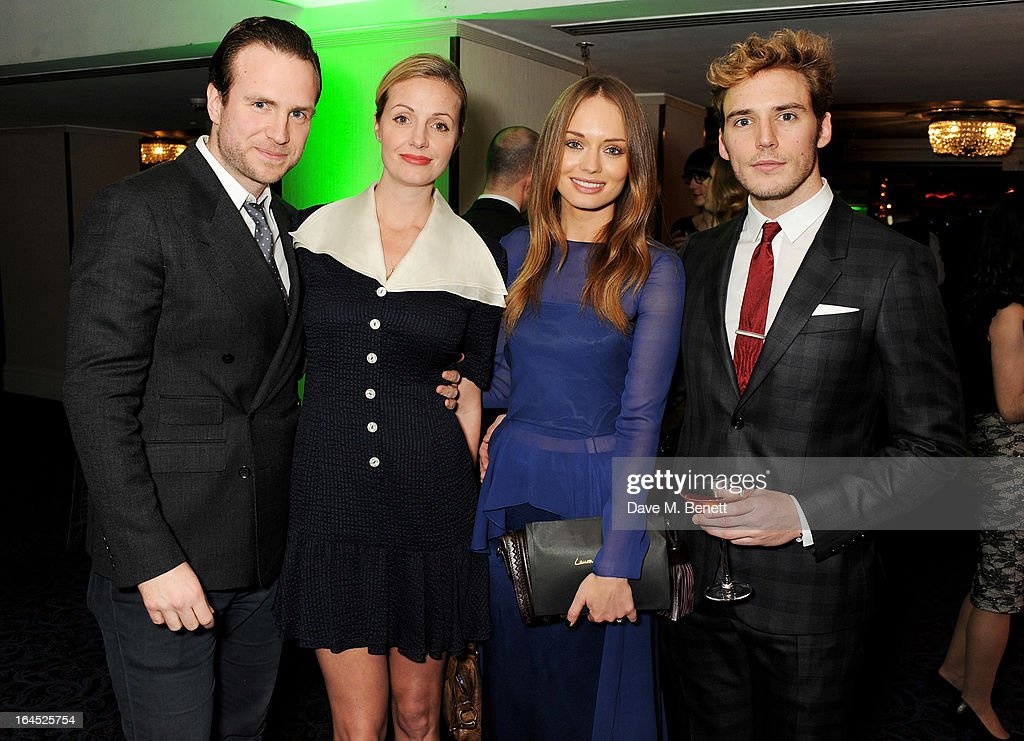 Rafe Spall, Elize du Toit, Laura Haddock and Sam Claflin arrive at the Jameson Empire Awards 2013 at The Grosvenor House Hotel on March 24, 2013 in London, England.
