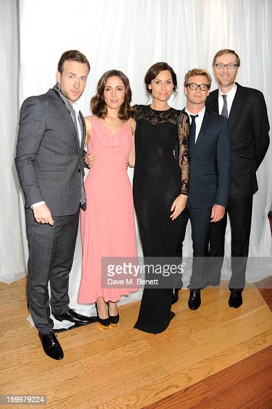 Rafe Spall Rose Byrne Minnie Driver Simon Baker and Stephen Merchant attend the European Premiere of 'I Give It A Year' at Vue West End on January 24...