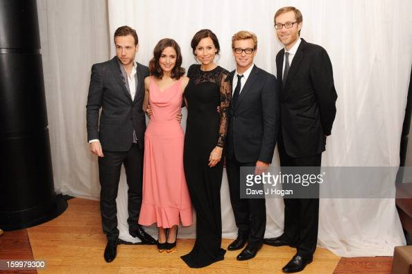 Rafe Spall Rose Byrne Minnie Driver Simon Baker and Stephen Merchant attend the European premiere of 'I Give It A Year' at The Vue West End on...