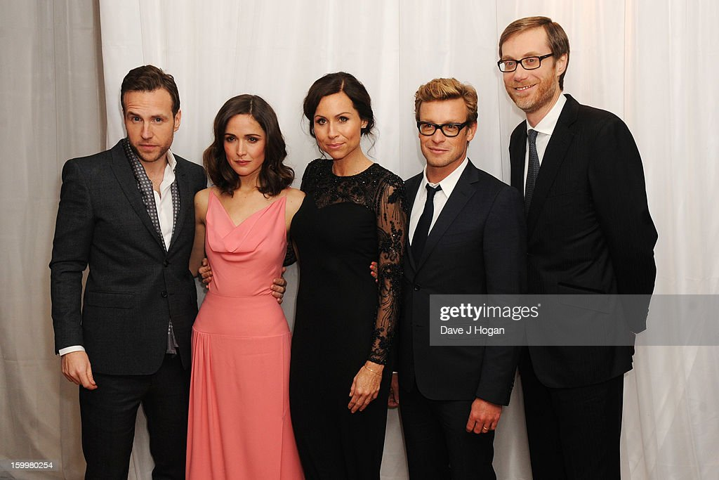 Rafe Spall, <a gi-track='captionPersonalityLinkClicked' href=/galleries/search?phrase=Rose+Byrne&family=editorial&specificpeople=206670 ng-click='$event.stopPropagation()'>Rose Byrne</a>, <a gi-track='captionPersonalityLinkClicked' href=/galleries/search?phrase=Minnie+Driver&family=editorial&specificpeople=201884 ng-click='$event.stopPropagation()'>Minnie Driver</a>, <a gi-track='captionPersonalityLinkClicked' href=/galleries/search?phrase=Simon+Baker&family=editorial&specificpeople=206176 ng-click='$event.stopPropagation()'>Simon Baker</a> and <a gi-track='captionPersonalityLinkClicked' href=/galleries/search?phrase=Stephen+Merchant&family=editorial&specificpeople=646779 ng-click='$event.stopPropagation()'>Stephen Merchant</a> attend the European premiere of 'I Give It A Year' at The Vue West End on January 24, 2013 in London, England.