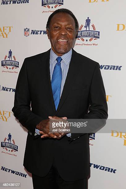 Rafer Johnson arrives at the charity screening of 'Draft Day' at Big Newport Theater on April 3 2014 in Newport Beach California