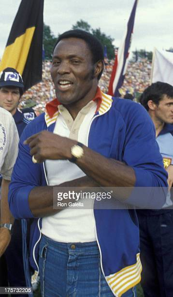Rafer Johnson attends International Summer Special Olympics on August 9 1979 in Brockport New York