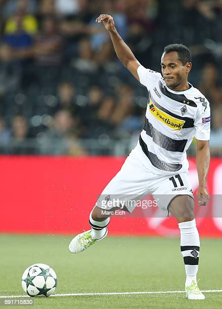 Raffael Caetano de Araujo of Borussia Moenchengladbach in action during the Champions League Playoff match between Young Boys Bern and Borussia...