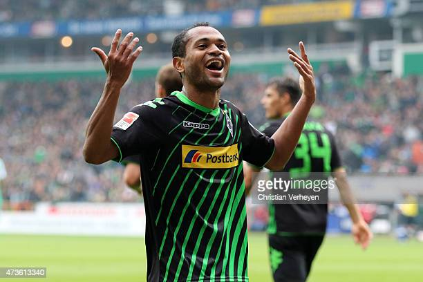 Raffael of Borussia Moenchengladbach celebrates after second goal during the Bundesliga match between SV Werder Bremen and Borussia Moenchengladbach...