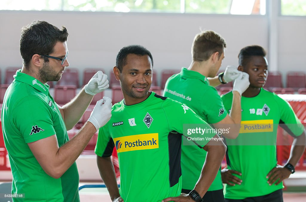 Raffael of Borussia Moenchengladbach during a Lactate Test in Duesseldorf on June 28, 2016 in Moenchengladbach, Germany.