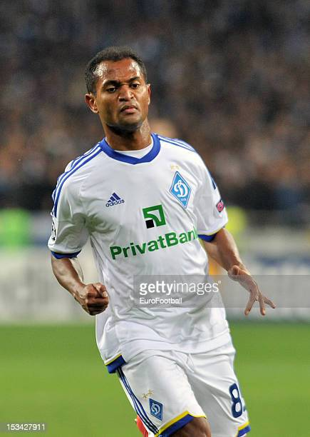 Raffael of FC Dynamo Kyiv in action during the UEFA Champions League group stage match between FC Dynamo Kyiv and GNK Dinamo Zagreb at the...