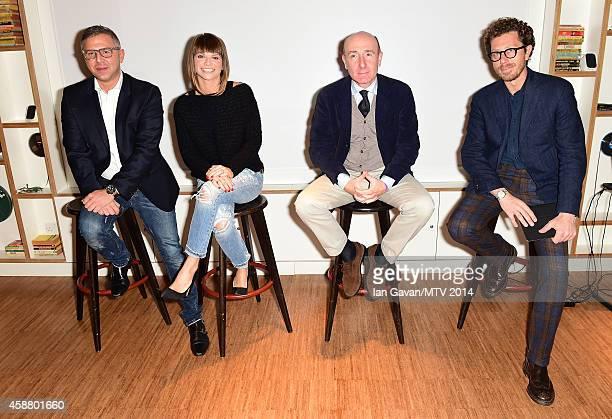 Raffaele Annecchino Alessandra Amoroso Roberto Arditti and Andrea Castellari as Milan is announced as the host city for the MTV EMA's 2015 on...