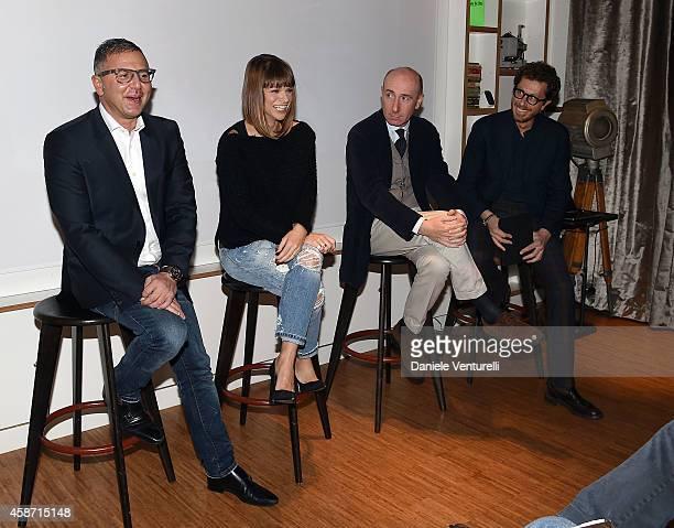 Raffaele Annecchino Alessandra Amoroso Roberto Arditti and Andrea Castellari attend Press Conference for Milan city of Expo2015 will host next year...
