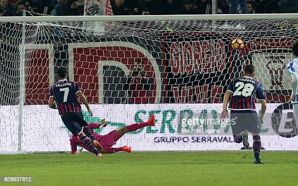 Raffaele Palladino of Crotone scores his team's opening goal with penalty the Serie A match between FC Crotone and Pescara Calcio at Stadio Comunale...