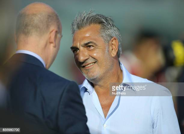 Raffaele Renna President of FC Crotone during the Serie A match between FC Crotone and AC Milan on August 20 2017 in Crotone Italy