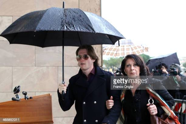 Raffaele Sollecito arrives at the Nuovo Palazzo di Giustizia courthouse of Florence for the final verdict of the Amanda Knox and Raffaele Sollecito...