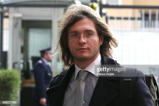 Raffaele Sollecito arrives at the RAI TV studios for 'Porta A Porta' TV talk show dedicated to the final verdict of The Meredith Kercher Murder on...