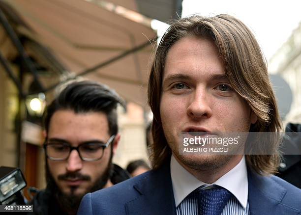 Raffaele Sollecito arrives for a press conference in Rome on March 30 2015 Italy's top court on March 27 has thrown out Raffaele Sollecito and Amanda...