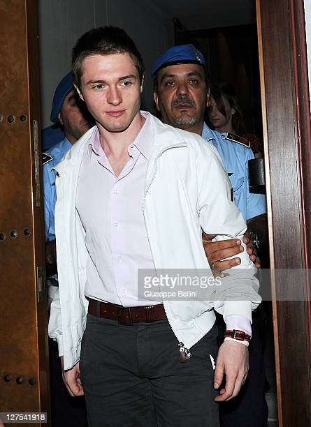 Raffaele Sollecito attends his appeal hearing at Perugia's Court of Appeal on September 29 2011 in Perugia Italy Amanda Knox and Raffaele Sollecito...