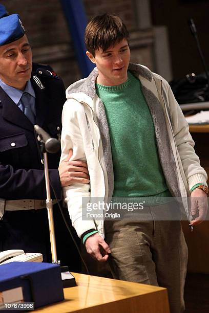 Raffaele Sollecito attends the appeal hearing over the guilty verdict in the murder of Meredith Kercher in Perugia's court of Appeal on December 18...