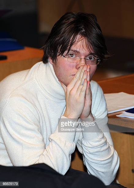 Raffaele Sollecito attends the Meredith Kercher murder trial for the closing arguments on December 01 2009 in Perugia Italy Raffaele Sollecito and...