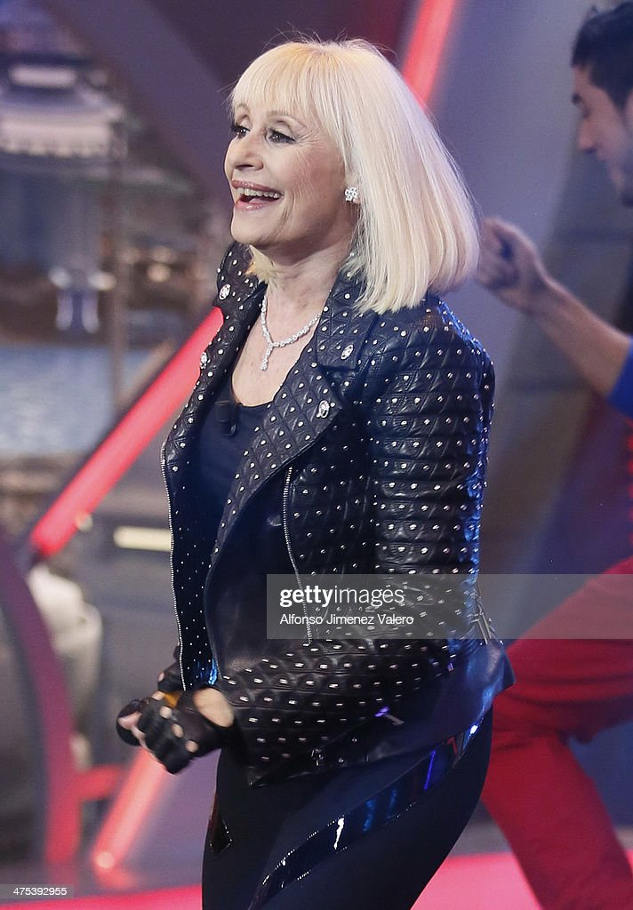 <a gi-track='captionPersonalityLinkClicked' href=/galleries/search?phrase=Raffaella+Carra&family=editorial&specificpeople=2838357 ng-click='$event.stopPropagation()'>Raffaella Carra</a> attends 'El Hormiguero' TV show on February 27, 2014 in Madrid, Spain.