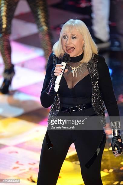 Raffaella Carra attends the opening night of the 64th Festival di Sanremo 2014 at Teatro Ariston on February 18 2014 in Sanremo Italy