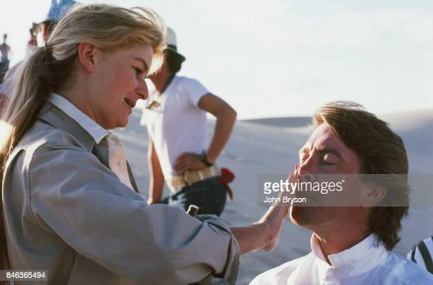 Raffaella de Laurentiis producer and David Lynch director on the set of Dune in Los Angeles 01st July 1983
