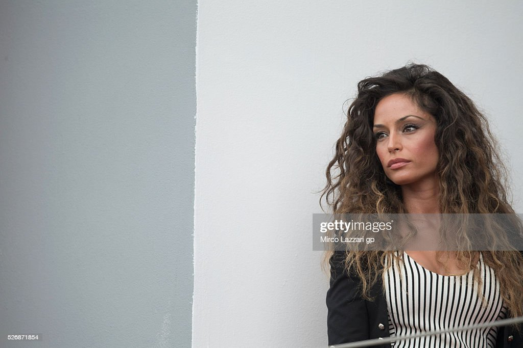 <a gi-track='captionPersonalityLinkClicked' href=/galleries/search?phrase=Raffaella+Fico&family=editorial&specificpeople=7624209 ng-click='$event.stopPropagation()'>Raffaella Fico</a> of Italy poses on the podium at the end of the Superbike race 2 during the World Superbikes - Race at Enzo & Dino Ferrari Circuit on May 10, 2015 in Imola, Italy.