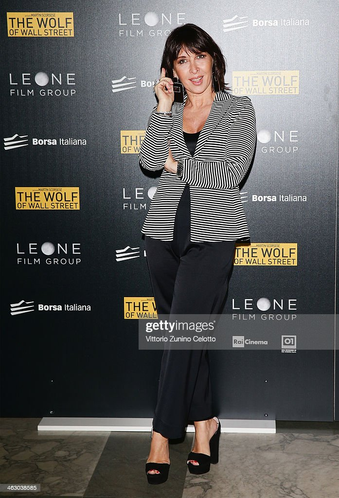 Raffaella Leone attends 'The Wolf Of Wall Street' Milan Premiere on January 16, 2014 in Milan, Italy.