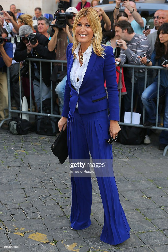 Raffaella Zardo attends the Valeria Marini And Giovanni Cottone wedding at Ara Coeli on May 5, 2013 in Rome, Italy.