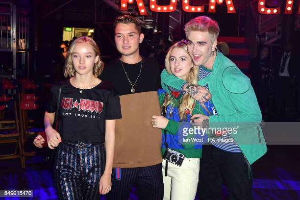 Rafferty Law Anais Gallagher and GabrielKane Day Lewis during the Tommy Hilfiger Front row during London Fashion Week SS18 held at Roundhouse Chalk...
