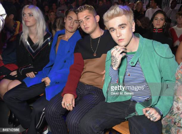 Rafferty Law and GabrielKane DayLewis attend the Tommy Hilfiger TOMMYNOW Fall 2017 Show during London Fashion Week September 2017 at The Roundhouse...
