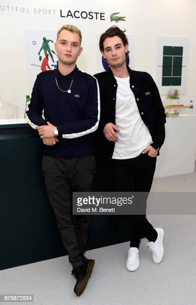 Rafferty Law and Jack Brett Anderson attend Lacoste VIP Lounge during 2017 ATP World Tour Semi Finals at The O2 Arena on November 18 2017 in London...