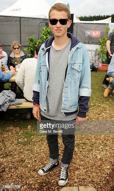 Rafferty Law attends the RayBan Rooms during day two of the Isle of Wight Festival at Seaclose Park on June 23 2012 in Newport Isle of Wight