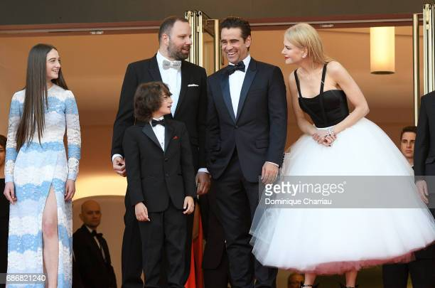 Raffey Cassidy director Yorgos Lanthimos Sunny Suljic Colin Farrell and Nicole Kidman attend 'The Killing Of A Sacred Deer' premiere during the 70th...