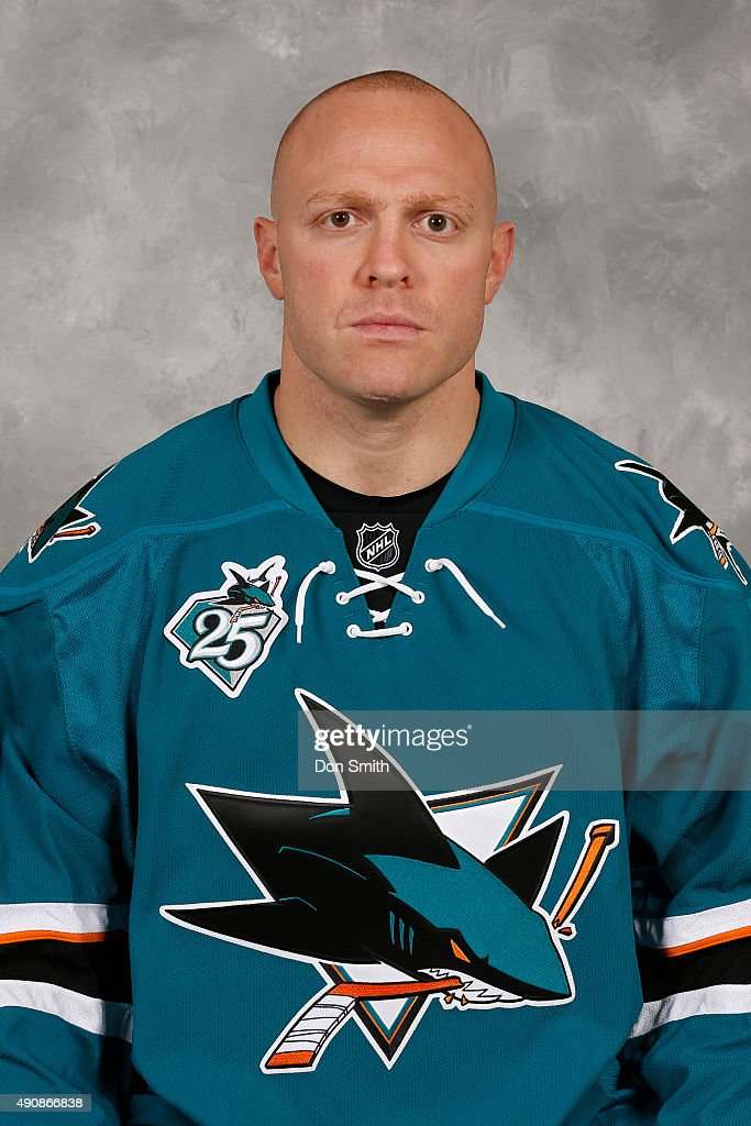 Raffi Torres of the San Jose Sharks poses for his official headshot for the 201516 season on September 17 2015 at Sharks Ice in San Jose California