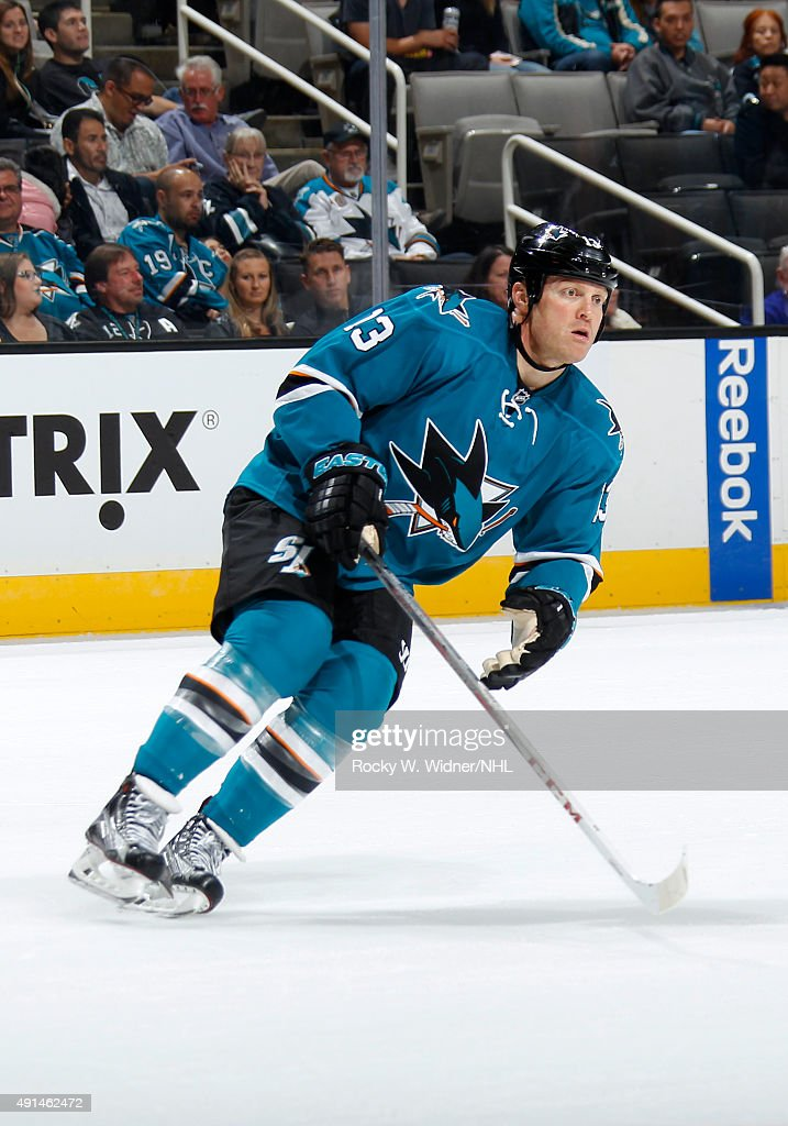 Raffi Torres of the San Jose Sharks skates against the Arizona Coyotes at SAP Center on September 25 2015 in San Jose California